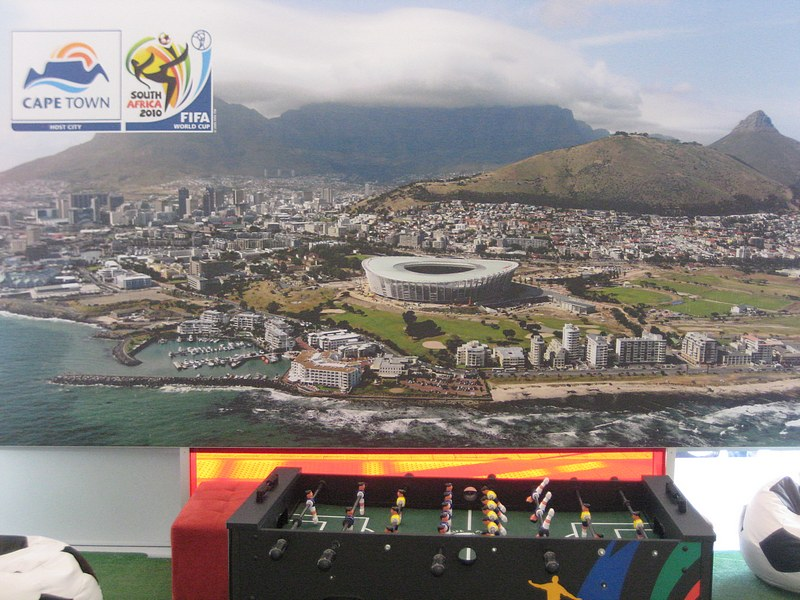 our city our stadium not sure whos table soccer