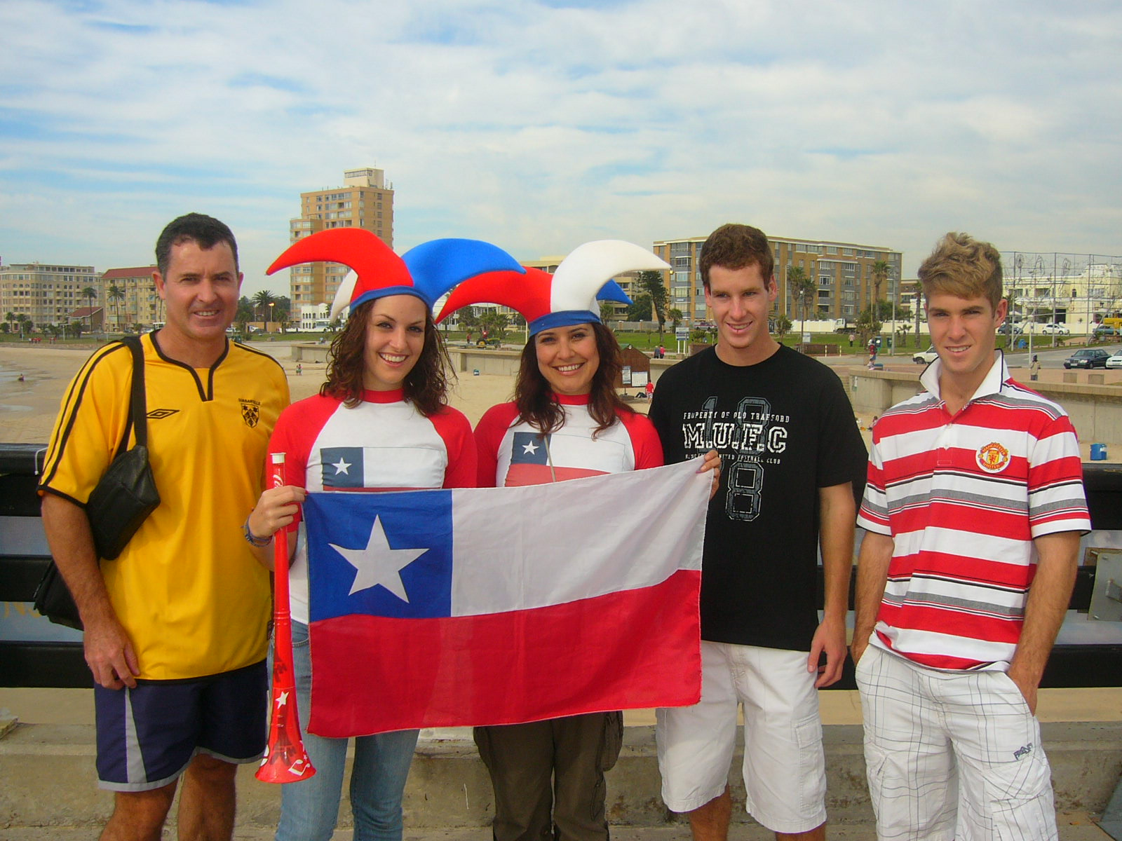 the hackart boys with some ladies from chile chile vs switzerland in pe