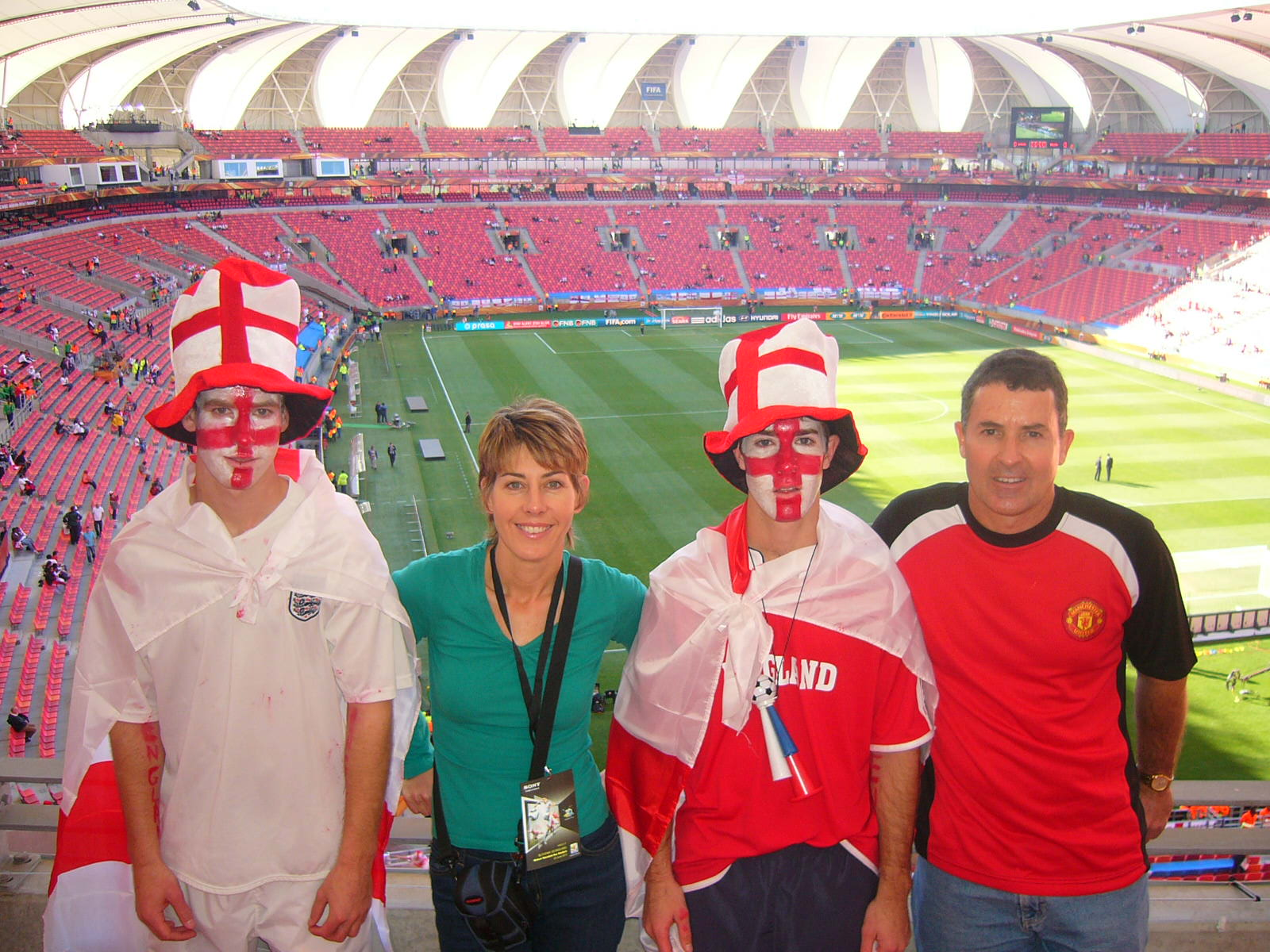 the hackart family at england vs slovenia game in pe