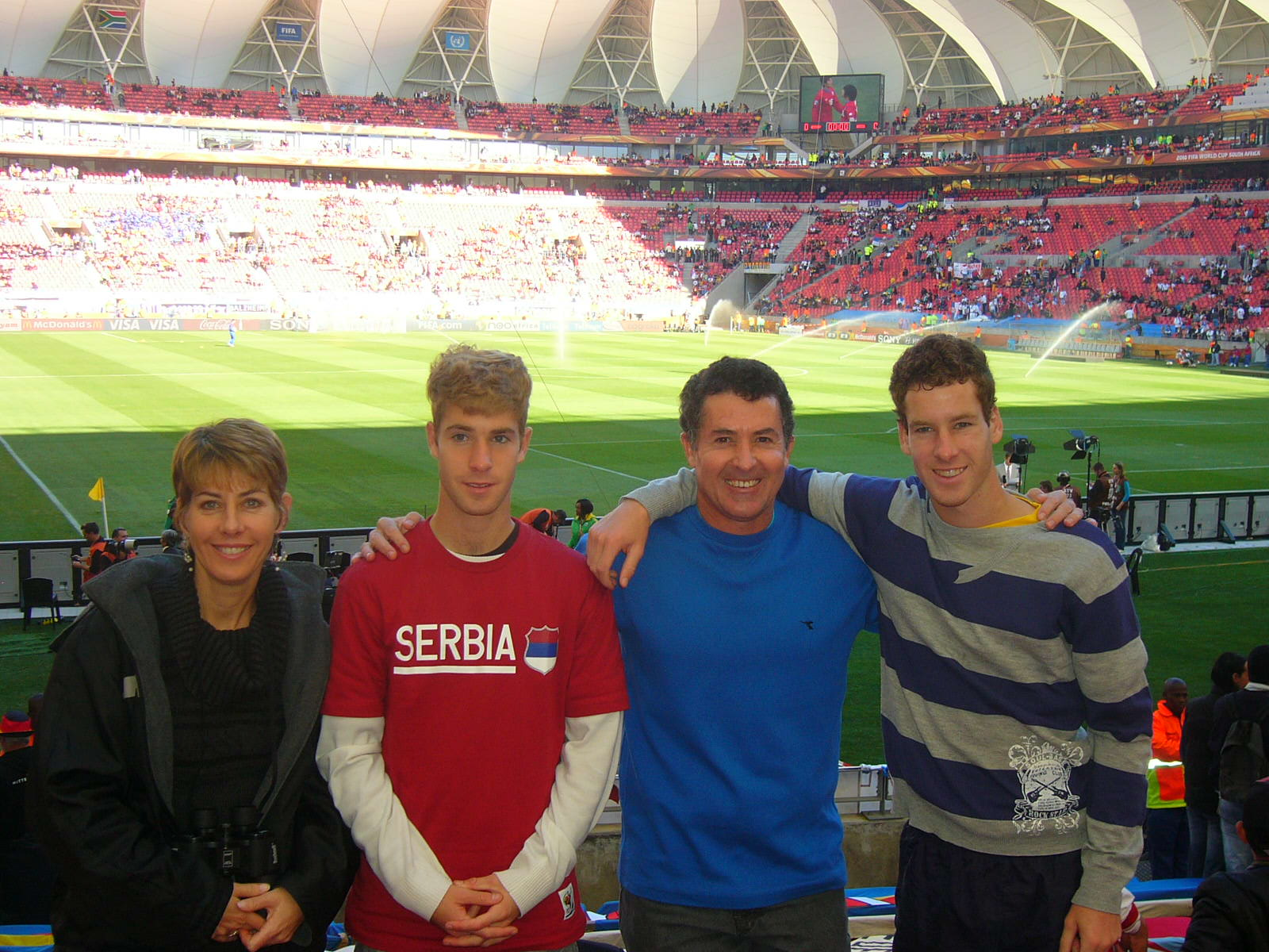 the hackart family at germany vs serbia game in pe