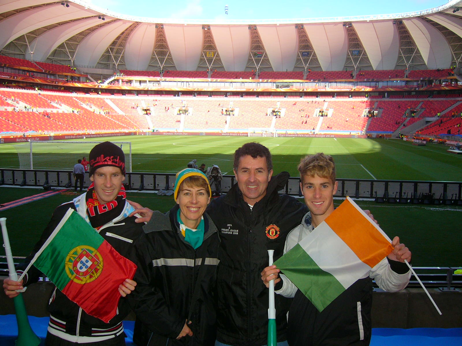 the hackart family at portugal vs ivory coast game in pe
