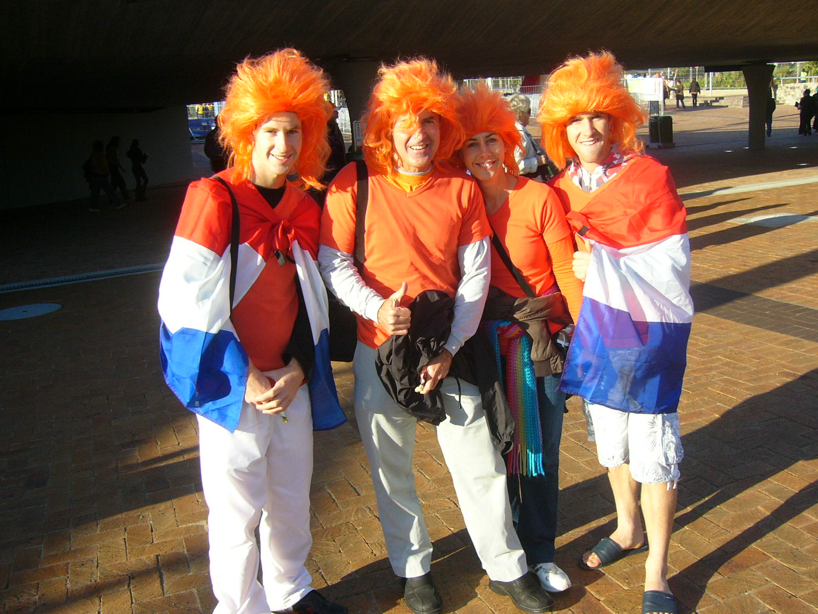 the hackart family at semi final holland vs uruguay in cape town
