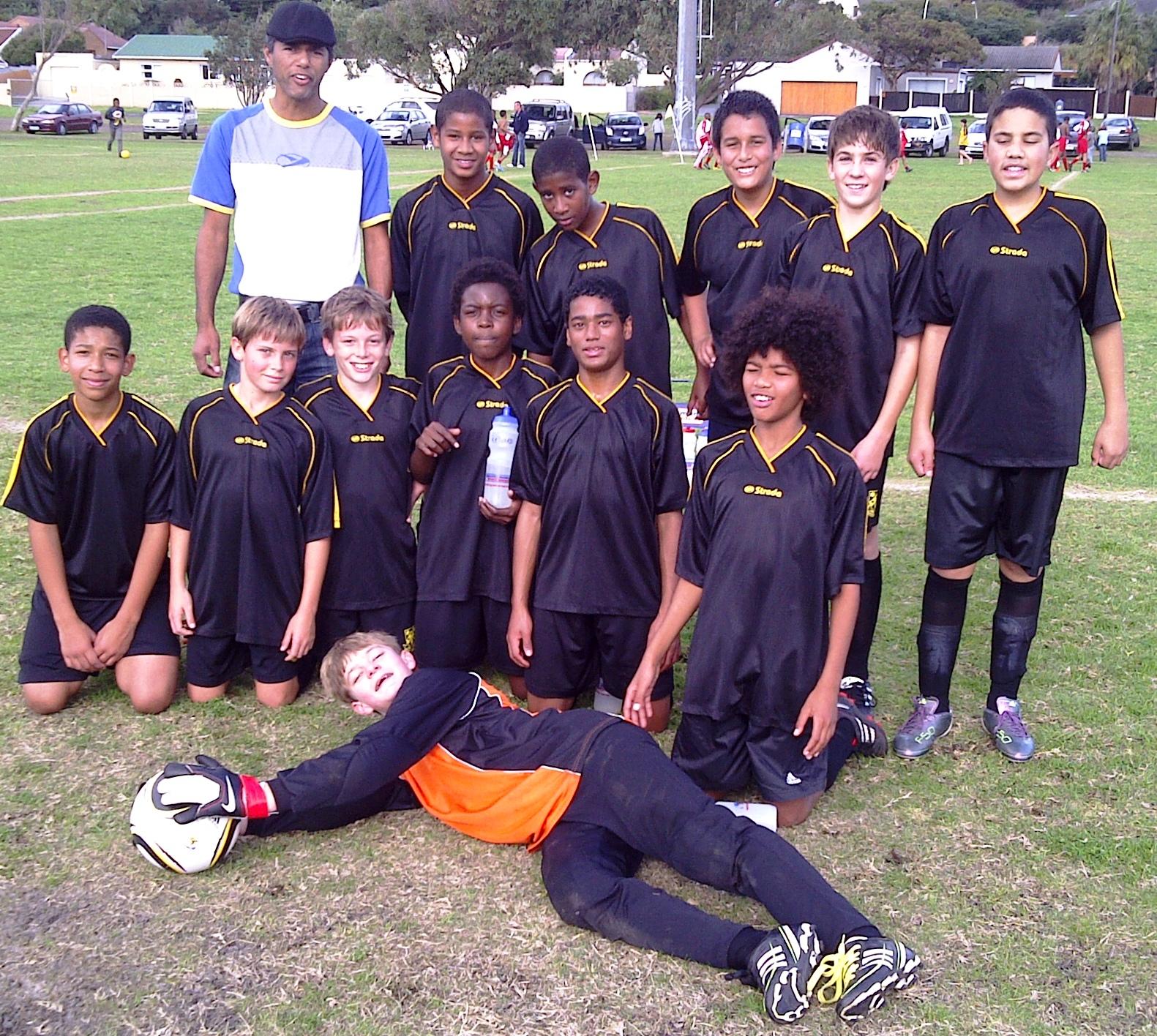the under 13b team
